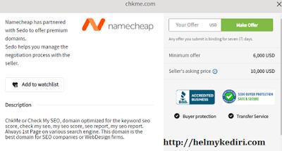 Menjual nama domain