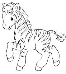 Baby Zebra Coloring Sheet Images - Bluelotusdc