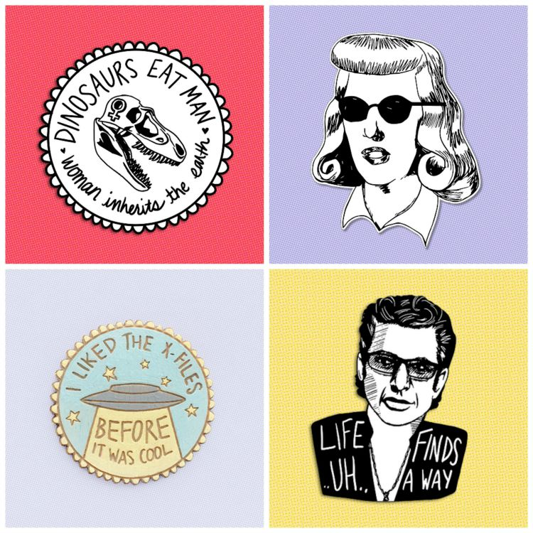 A Vintage Nerd Brooches Pop Culture Brooches Vintage Blog Kate Gabrielle