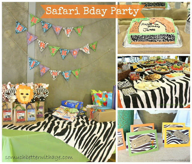 Safari birthday party www.somuchbetterwithage.com