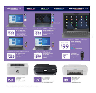 Walmart black friday ad scan 2019 - laptops, printers