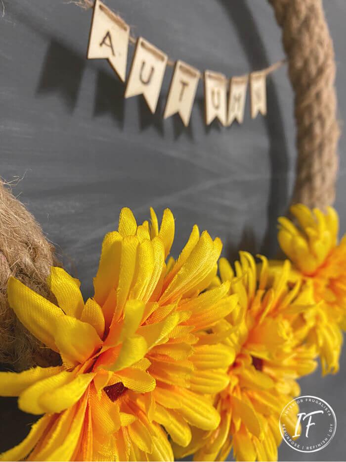 Small Fall Sunflower Wreath