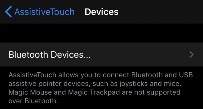 إقران ماوس Bluetooth في iOS 13 (iPadOS 13)