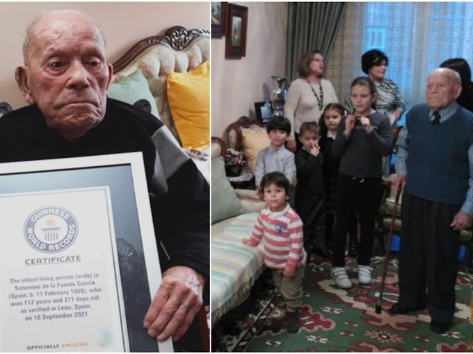 112-yr-old from Spain becomes world's oldest living man, has 22 great-grandchildren
