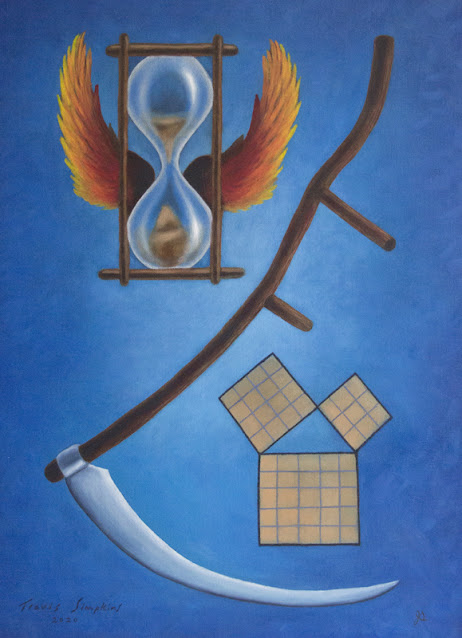 Masonic Symbolism. Master Mason Emblems. Degree Ritual. Painting Series by Travis Simpkins