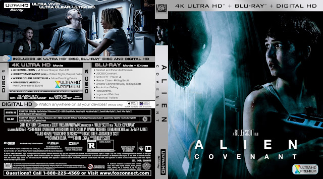 Alien Covenant 4K Bluray Cover