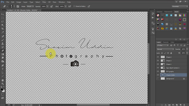 how to create own signature logo for photography screenshot 5