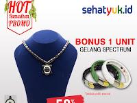 Promo Kalung Kesehatan Ginsamyong Titanium Spesial Ramadhan BONUS Gelang Spectrum