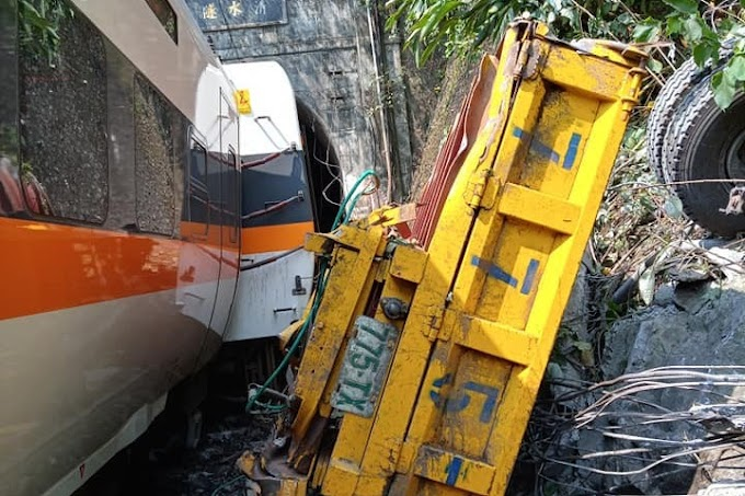 Legalább harminchat halott egy tajvani vonatbalesetben