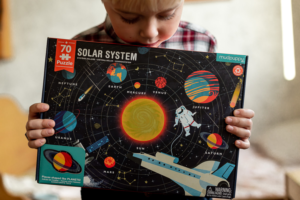 Mudpuppy, Puzzle Układ Słoneczny z elementami w kształcie planet