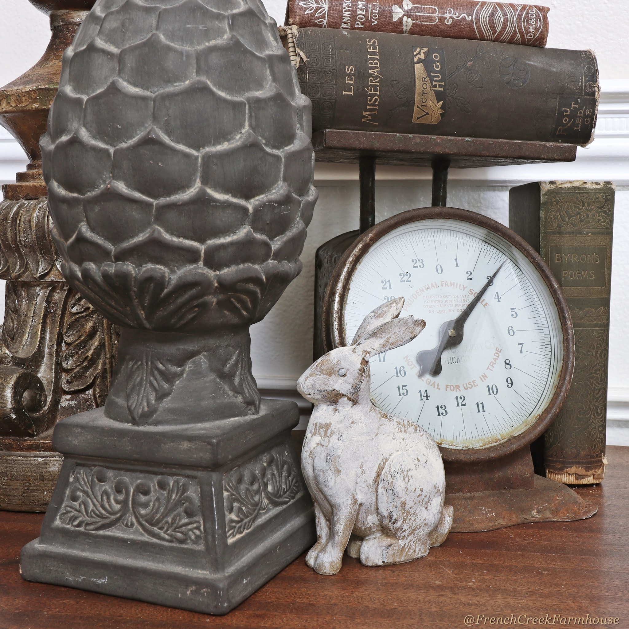 Distressed Vintage Bunny | French Creek Farmhouse
