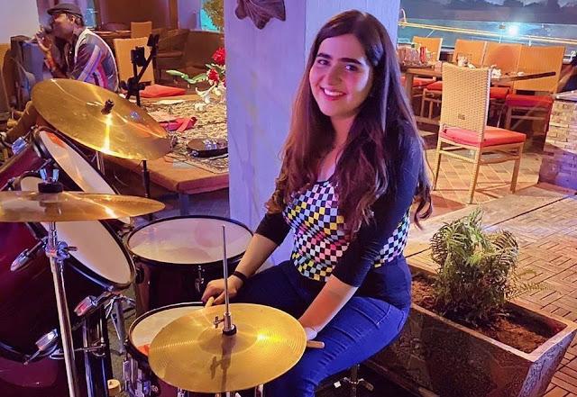 Alishba Kazi is a young Pakistani female drummer.