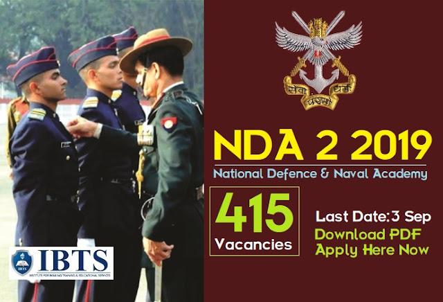 NDA 2 2019 Notification: 415 Vacancies in NDA & NA