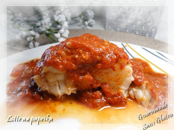 recette de lotte, poisson, au paprika