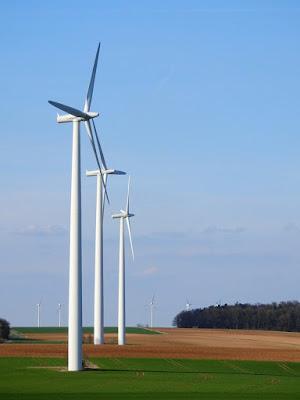 Three high-tech windmills