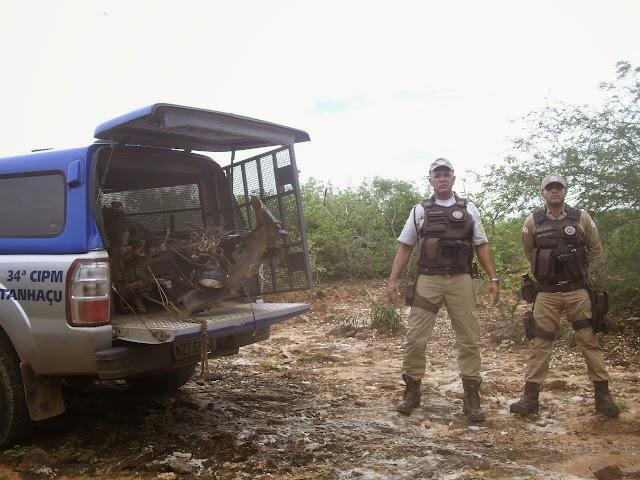 Polícia encontra desmanche de motos em Tanhaçu