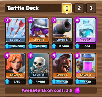 Deck Clash Royale Arena 6