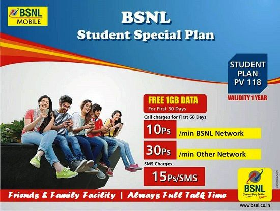 Student Special plan for Prepaid stundet users