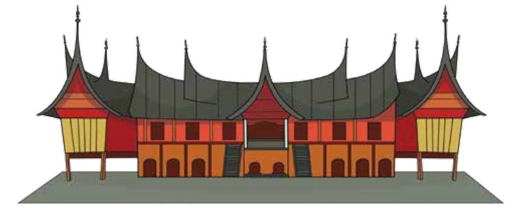 55 Gambar Animasi Rumah Adat Padang Gratis Terbaik