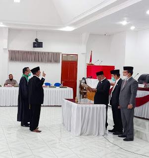 Muslim Simamora Dilantik Sebagai Anggota DPRD Humbahas
