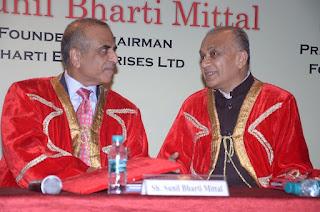 Shri  Sunil Bharati Mittal , founder and CEO, Bharati Enterprises and Shri VM Bansal , chairman , NDIM