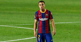 Sergino Dest reacts to Barcelona 1-1 draw at home with Sevilla