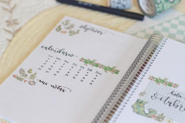Hola octubre: portadas del mes en mi bullet journal