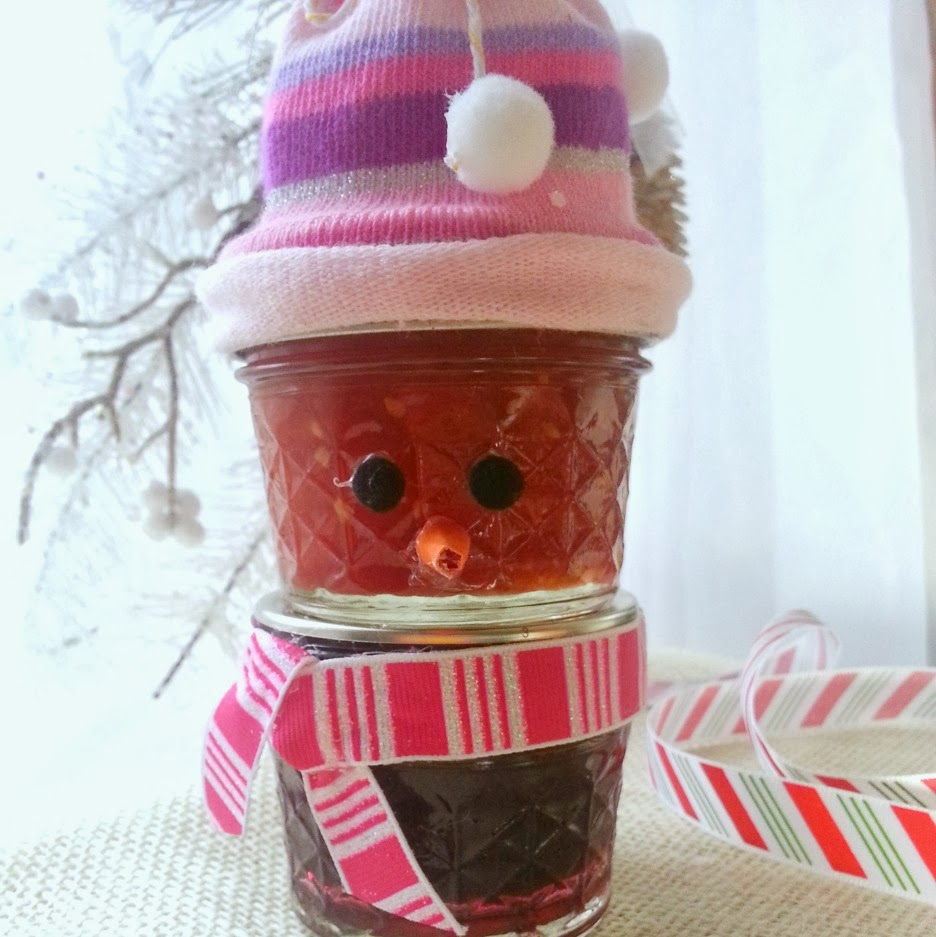 Craft Ideas Empty Jam Jars: Tiny Jam Jar Snowman Gift