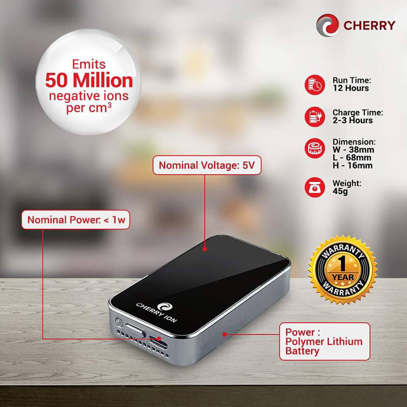 Cherry Ion Air Personal Purifier specs