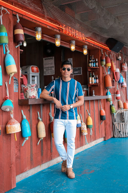 Leo Chan wear Nautical Inspired Outfit | Asian Model and Blogger