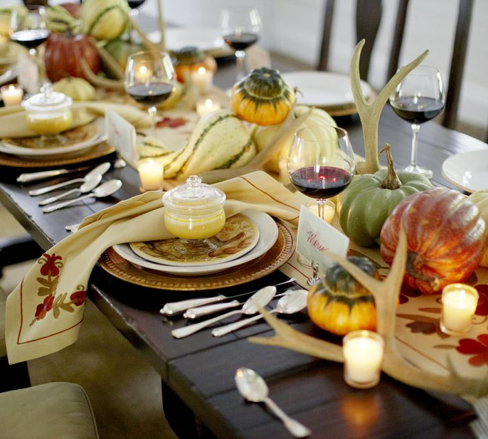 Thanksgiving Table Decorations Pottery Barn
