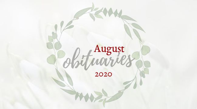 Obituaries of August 2020