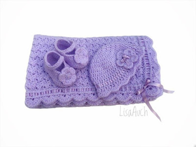 Crochet Baby Patterns hat blankets, booties  Lisa Auch