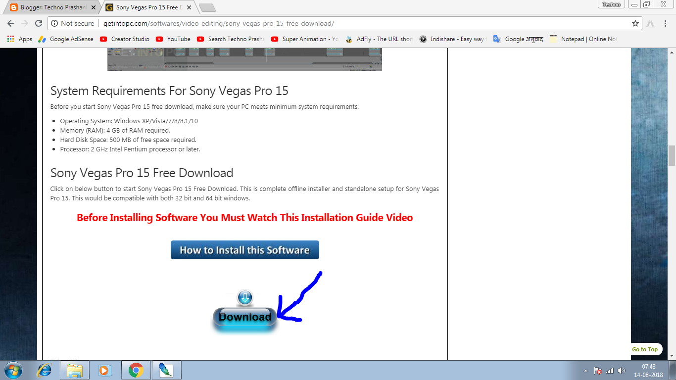 sony vegas pro free download for windows 7
