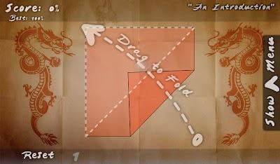 Juego de Origami Como doblar el Papel