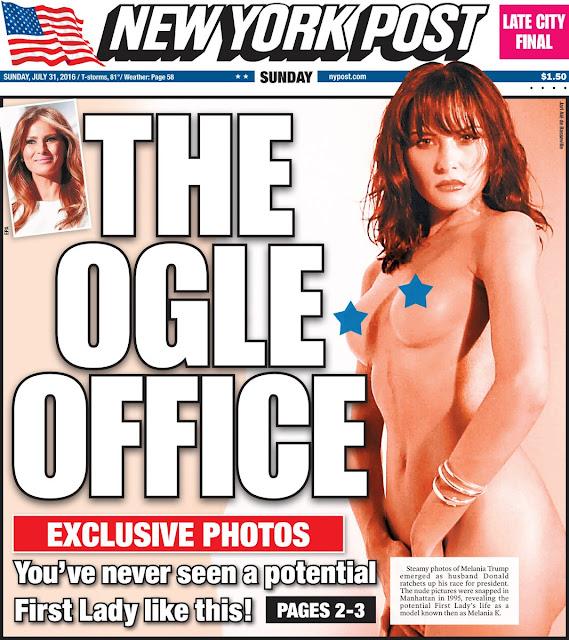 Melania Trump quase nua na capa do NYPost.com - MichellHilton.com