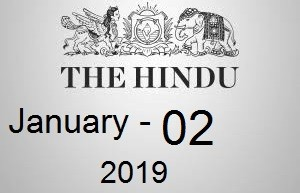 The Hindu Newspaper Today 02 January 2019 Download PDF