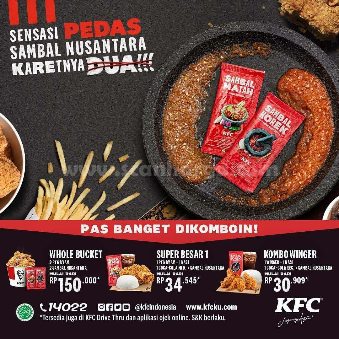 Promo KFC SAMBAL NUSANTARA harga cuma 5 Ribuan