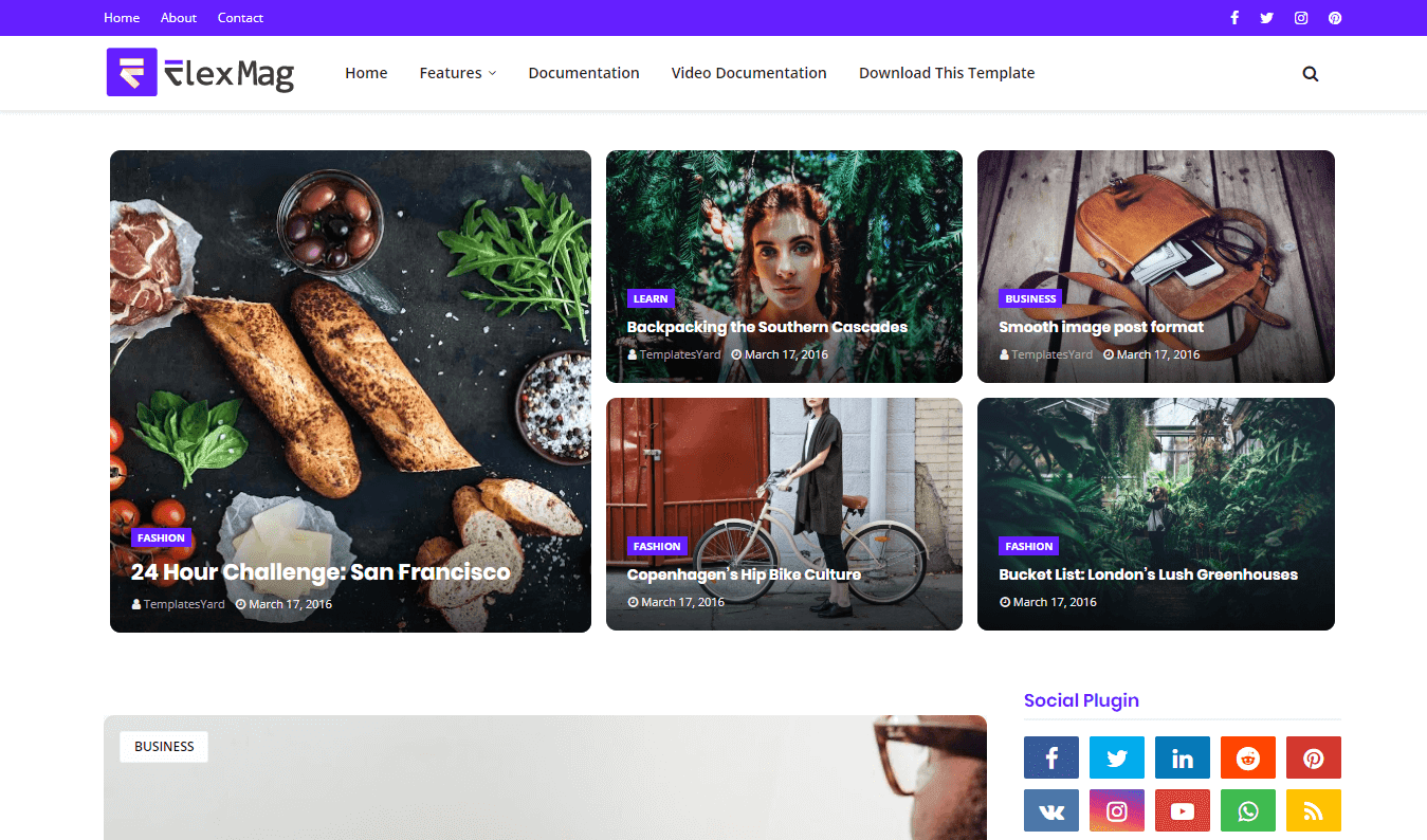 FlexBlog Blogger Template