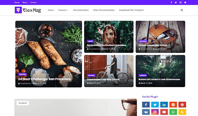 FlexBlog Blogger Template adalah template Blogger yang indah, kuat, & fleksibel untuk situs web Berita, Majalah, dan Blog