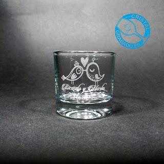 Vaso de chupito personalizado con dibujo original