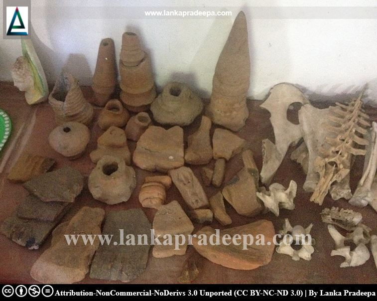 Artifacts found from the Viharaya