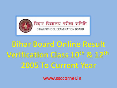 Bihar Board Online Result Verification