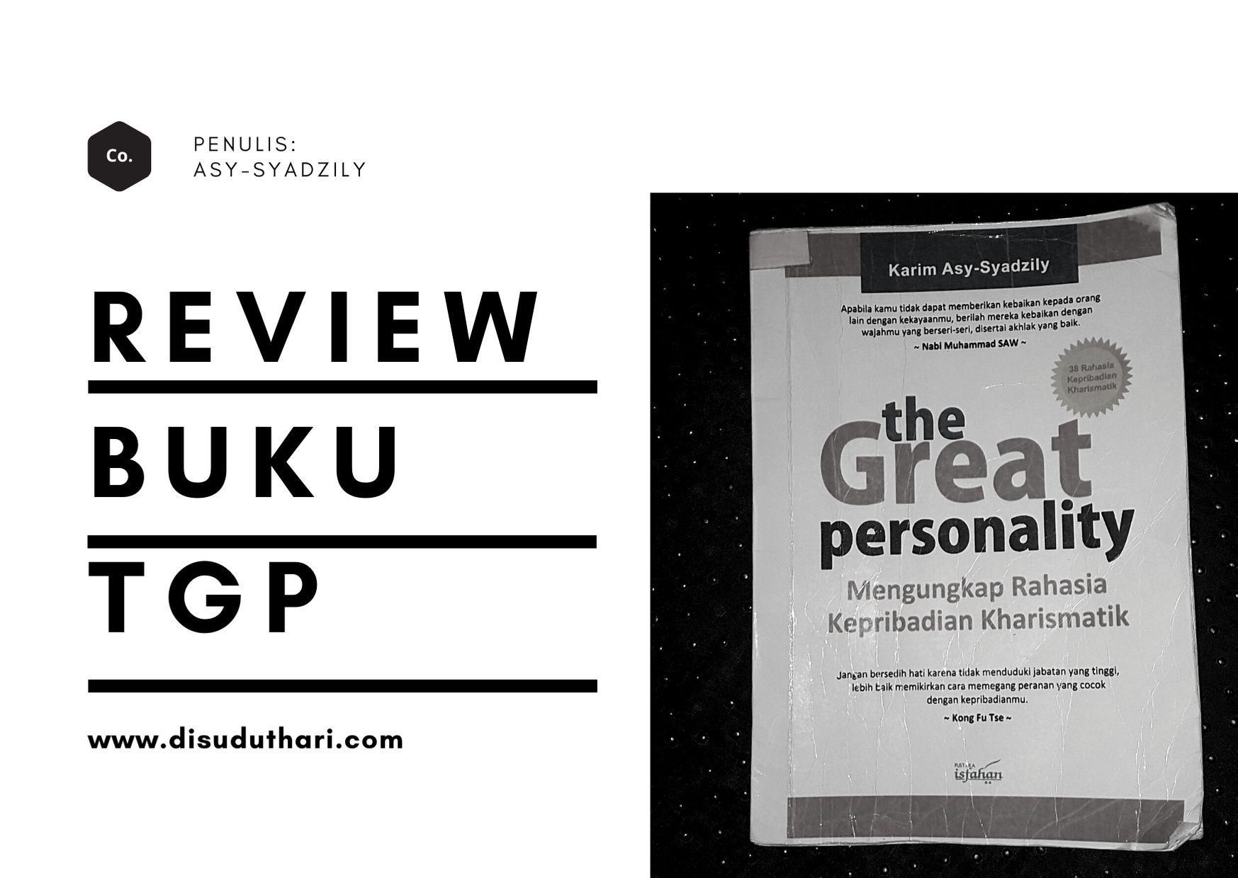 Review Buku the Great Personality Mengungkap Rahasia Kepribadian Kharismatik