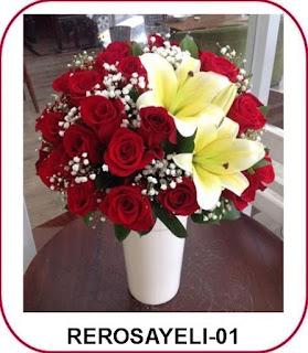 bunga mawar dan lily