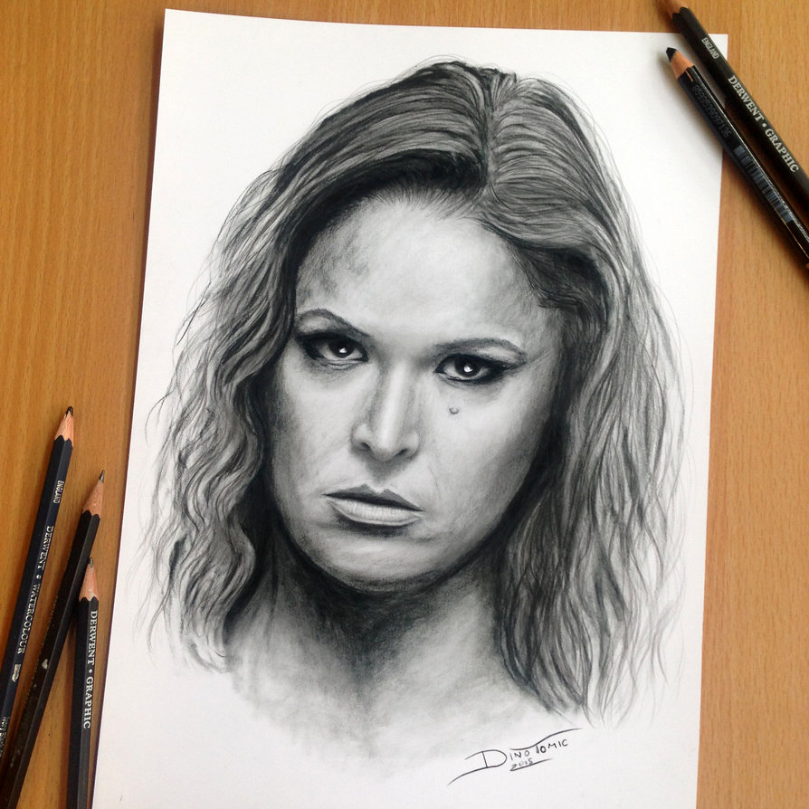 13-Ronda-Rousey-MMA-Dino-Tomic-AtomiccircuS-Drawing-Painting-Tips-and-Digital-Art-www-designstack-co