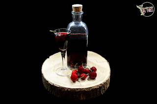 licor casero de cerezas