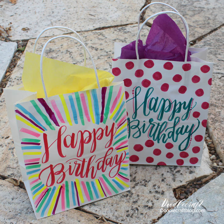 http://www.doodlecraftblog.com/2016/08/brush-calligraphy-paper-gift-bags.html