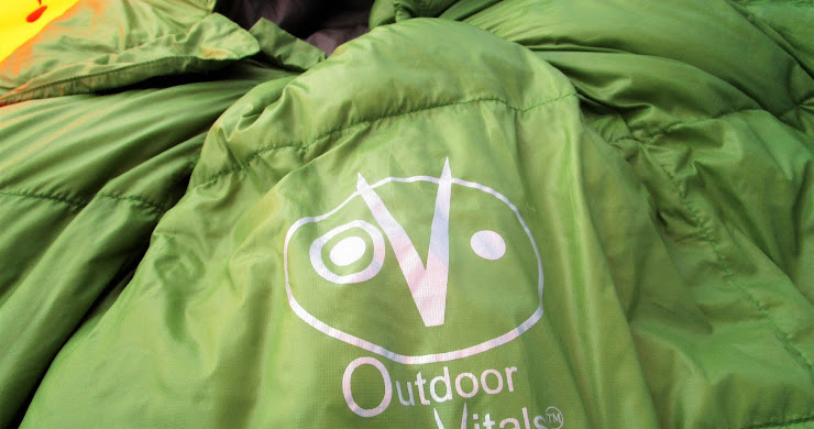 Winter camping with OutdoorVitals' Summit 0 sleeping bag