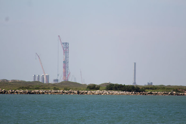 View of SpaceX launch area from South Padre Island, DSLR, 300mm (Source: Palmia Observatory)
